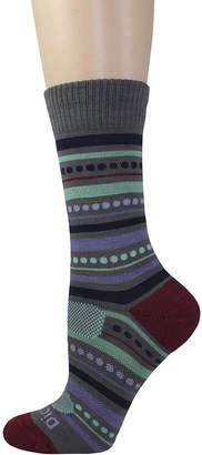 Dickies 1 Pair Womens Wool-Blend Striped Crew Socks