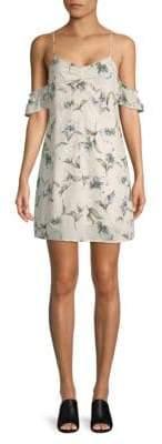 Lucca Couture Floral Cold-Shoulder Dress
