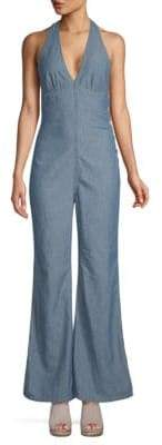 Free People Dance All Night Chambray Jumpsuit