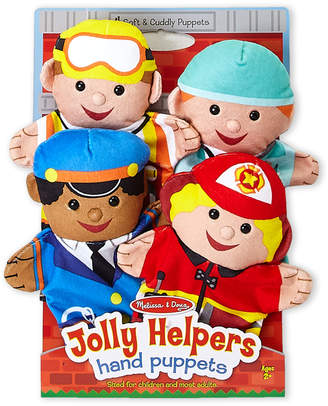 Melissa & Doug 4-Piece Jolly Helpers Hand Puppets Set