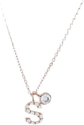 Accessorize Rose Gold Diamante Inital Pendant S
