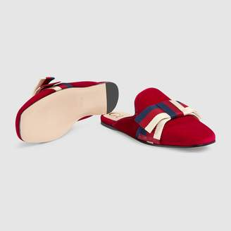 Gucci Velvet slipper with Sylvie bow