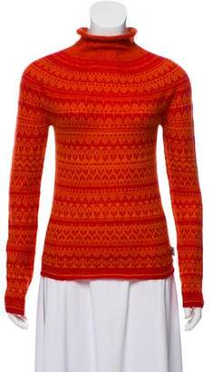 Burberry Patterned Turtleneck Sweater