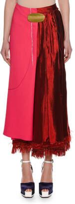 Marni Bi-Fabric A-Line Midi Skirt