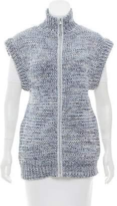 L'Agence Knit Zip Front Vest