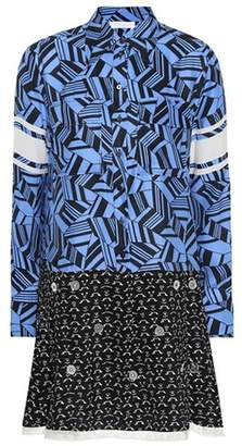 Chloé Printed silk shirt dress
