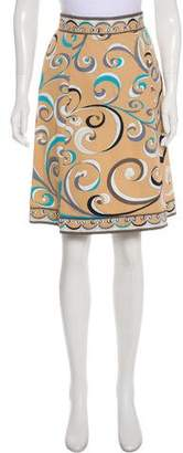 Emilio Pucci Printed Knee- Length Skirt
