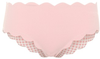 Marysia Swim Exclusive to Mytheresa Spring reversible gingham bikini bottoms