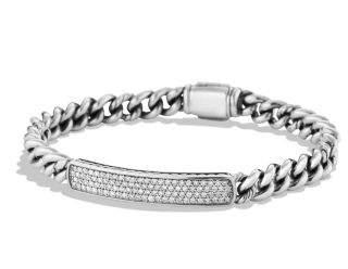 David Yurman Petite Pave Id Bracelet With Diamonds