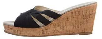 Stubbs & Wootton Grosgrain & Cork Wedges