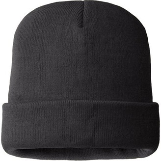 HANDS ONTM MO8250, Mens 100% Acrylic Hat, 40 gm 3M Thinsulate Lined, Black Color (One Size Fits Most)