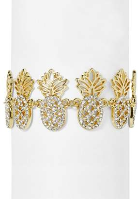 BaubleBar Colada Pavé Pineapple Bracelet
