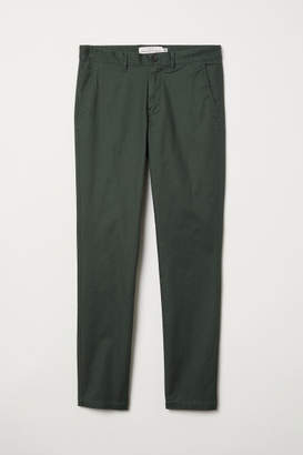 H&M Cotton Chinos Skinny fit - Green