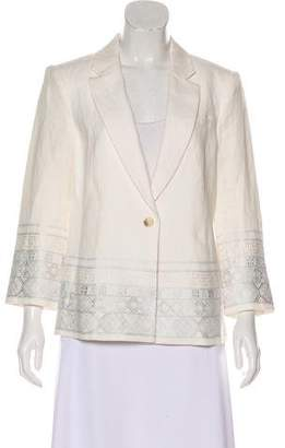 Elizabeth and James Linen Embroidered Blazer
