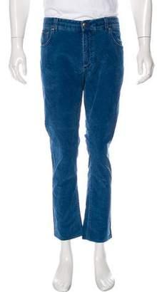 Isaia Skinny Corduroy Pants