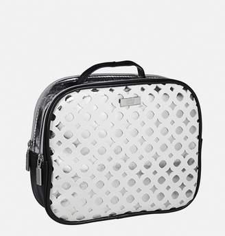Avenue Metallic Cutout Satchel Makeup Bag