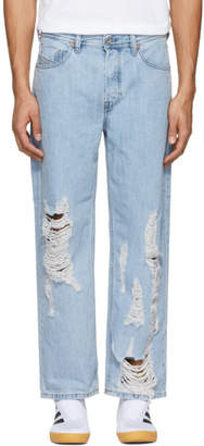 Diesel Blue Distressed Dagh Jeans