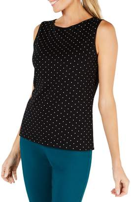 Karen Scott Dotted Boatneck Tank Top