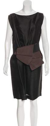 Lanvin Silk Sheath Dress