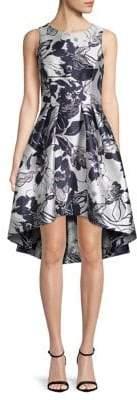 Shoshanna Jasmine Garden Coraline Jacquard Fit-&-Flare Dress