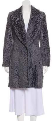 Oscar de la Renta Fur Knee-Length Coat