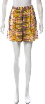 Tibi Printed Silk Shorts