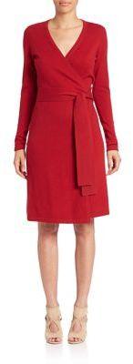 Diane von Furstenberg Linda Cashmere Wrap Dress $378 thestylecure.com