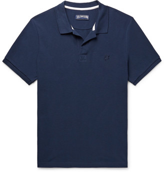 Vilebrequin Cotton-Pique Polo Shirt - Men - Blue