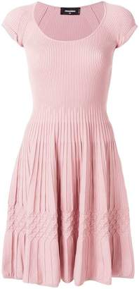 DSQUARED2 ribbed knitted skater dress