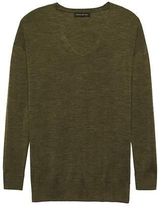 Banana Republic Washable Merino Tunic Sweater