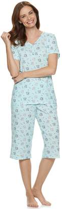 Croft & Barrow Petite Sleep Henley & Capri Pajama Set