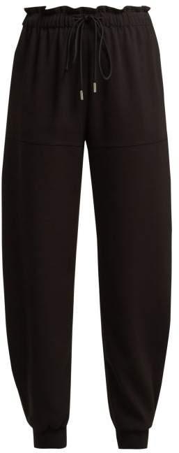 Tie Waist Trousers - Womens - Black