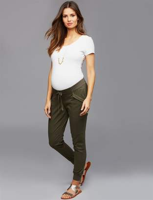 Under Belly Sateen Maternity Jogger Pants