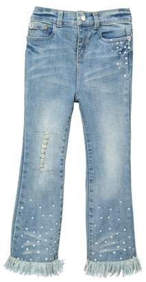 Baby Sara Stone Wash Frayed Bell Bottom Jeans (Toddler & Little Girls)