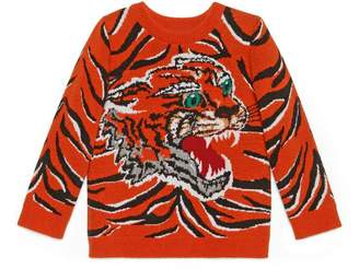 Gucci Children's tiger jacquard sweater