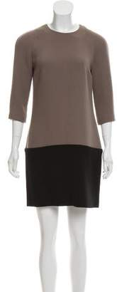 Emilia Wickstead Two-Tone Wool Dress