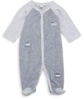 Kissy Kissy Baby's Freight Train Velour Footie