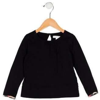 Burberry Girls' Knit Long Sleeve Top