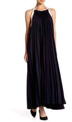 Gracia Sleeveless Pleated Maxi Dress