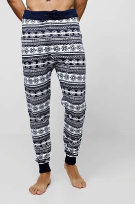 boohoo Fairisle Knitted Lounge Pants