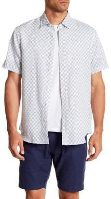 Toscano Short Sleeve Floral Print Woven Shirt