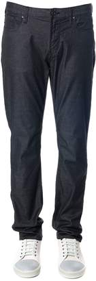 Emporio Armani Black Denim Elastic Cotton Jeans