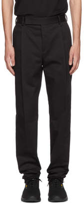 Fendi Black High Waist Single Pleat Trousers