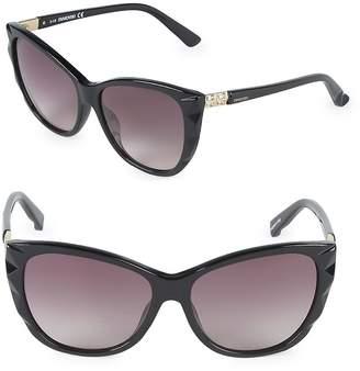 Swarovski Women's 57MM Butterfly Sunglasses