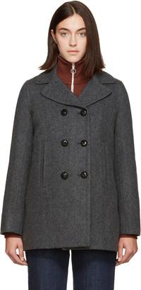 A.P.C. Grey Harper Coat $620 thestylecure.com