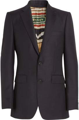 Burberry Slim Fit Wool Mohair Tailored Jacket