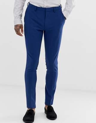 Asos Design DESIGN super skinny suit pants in bright blue