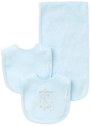 Little Me Boys' Welcome to the World Bib & Burp Cloth Set - Baby