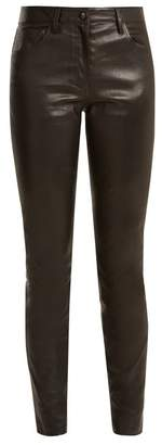 The Row - Maddly Skinny Leg Leather Trouser - Womens - Black