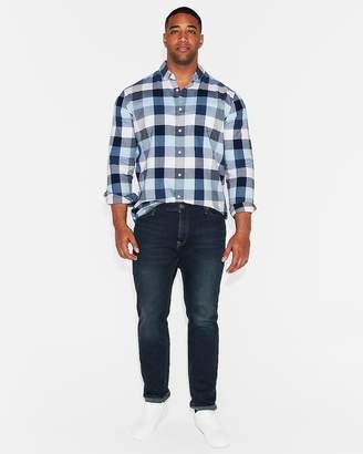 Express Slim Soft Wash Plaid Pocket Shirt